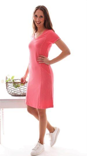 Solsiden kjole i 100% lin Rosa