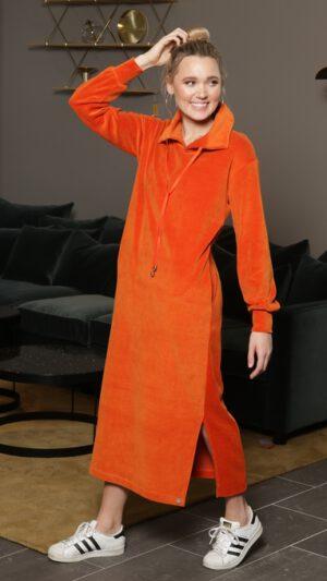 Hemsedal oransje kjole 1