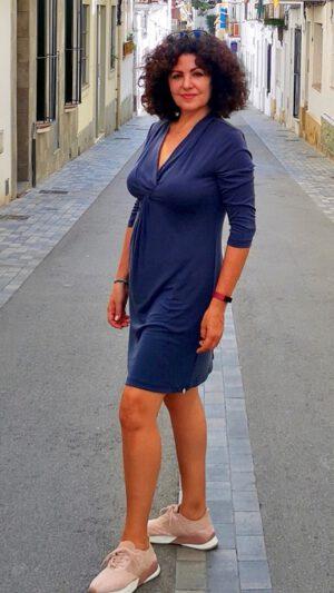 Geilo kjole tordenblå