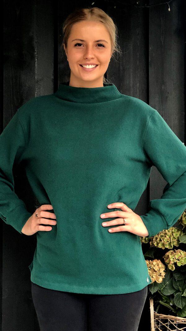 Tyin genser flaskegrønn 2