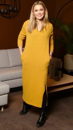Voss kjole gul 1 r