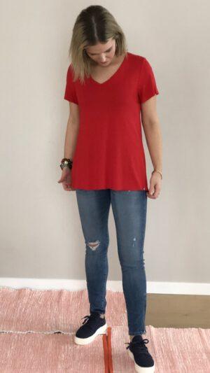Songe T-skjorte rød