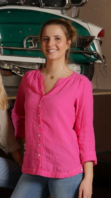 stavern skjorte lin rosa