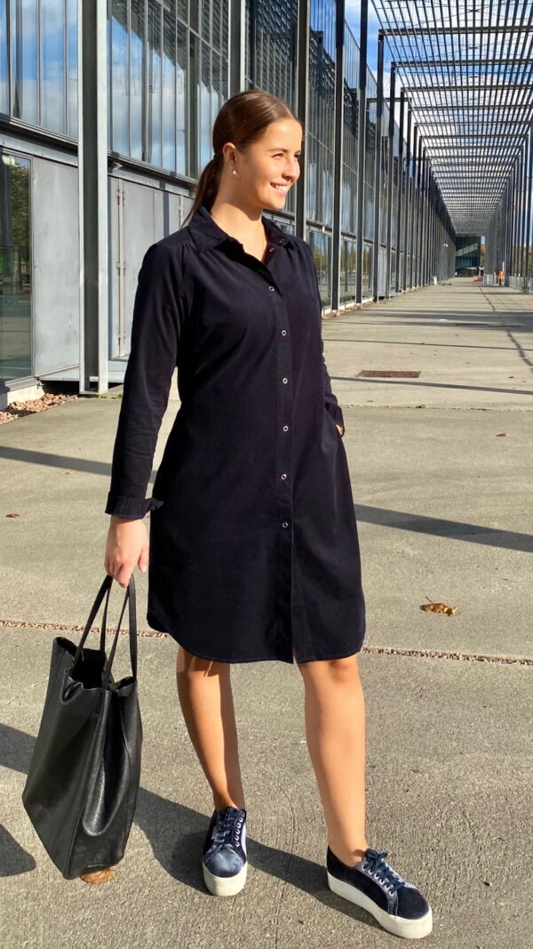 Kongsberg kjole navy 3