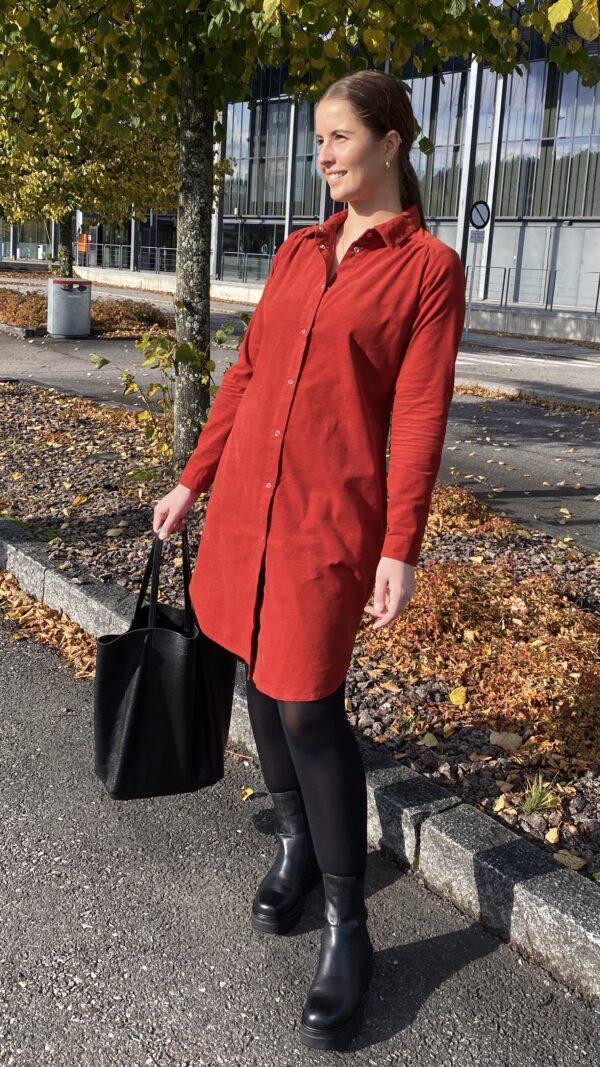Kongsberg kjole rust