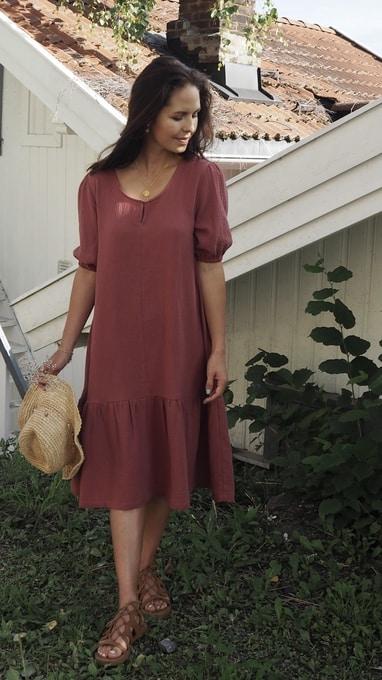 sandefjord kjole 1 terracotta