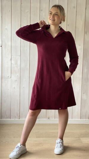 Hoff kjole short Bordeaux