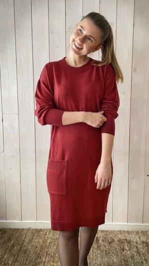 Ekeberg kjole Deep red 1