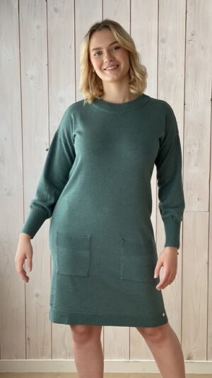 Ekeberg kjole pink green 1